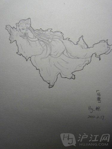 手绘美女地图中国版(合集)